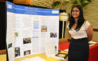 Anu Ramachandran's project on how a faith healer affected HIV education in Tanzania earned her the interdisciplinary award in the humanities category during the 14th annual USC Undergraduate Symposium for Scholarly and Creative Work. Photo by Heather Cartagena.