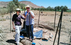 USC Dornsife geophysicists Meghan Miller and Thorsten Becker conducting fieldwork in Morocco. Photo courtesy of Meghan Miller and Thorsten Becker.