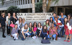 "Students in the course ""Forensic Psychology: The Mind and the Legal System"" take a tour of the Clara Shortridge Foltz Criminal Justice Center in Los Angeles. Photo courtesy of USC Summer Programs."