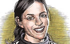 Arriving from a C.L.E. Moore instructorship at the Massachusetts Institute of Technology, followed by a year at Berkeley Quantitative, Sami Assaf became Gabilan Assistant Professor of Mathematics in Fall 2012. She specializes in algebraic combinatorics and combinatorial representation theory. Illustration by Bill Sanderson.