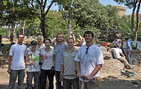 USC Dornsife's John Pollini (third from left) and some of his students at their excavation site in Ostia Antica, southwest of Rome, Italy. Photos courtesy of John Pollini.