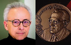 """The somatic marker idea turned out to be relevant to understand complex human behavior. I am pleased to see it recognized,"" University Professor Antonio Damasio said. The medal is on the right. Damasio photo by John Livzey."