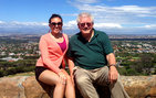 USC Dornsife senior Anneleise Azúa and her mentor George Sanchez, professor of American studies and ethnicity, and history, and vice dean of diversity, at the Rhodes Memorial on Devil's Peak near the University of Cape Town. Photos courtesy of Anneleise Azúa.