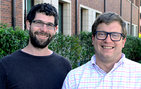 In a story published recently in <em>PLOS Genetics</em>, Matthew Taylor, Ph.D. student in molecular and computational biology (left), and Ian Ehrenreich, assistant professor of molecular biology, found that genetic variants can collectively affect physical characteristics. Photos by Erica Christianson.