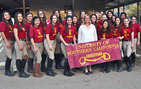 The USC Equestrian Team with their coach Kathryn Burdett Griffiths. Photos courtesy of Taylor Osher.