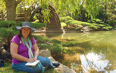 Deborah Kolodji finds inspiration for writing haiku during a visit to the Japanese garden at The Huntington Library, Art Collections and Botanical Garden in San Marino, California. Photo courtesy of Deborah Kolodji.