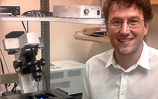 Fabien Pinaud, assistant professor of molecular biology at USC Dornsife, is lead researcher on a study published in <em>Nature Communications</em> Sept. 18. Photo courtesy of Fabien Pinaud.