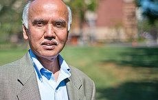 G.K. Surya Prakash of chemistry has worked in fluorine chemistry for 25 years. Recently, his research proved the existence of a long-lived form of the trifluoromethanide anion, which many chemists considered impossible. Photo by Peter Zhaoyu Zhou.