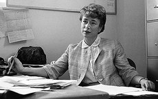 Harriet Forster, professor emerita of physics and astronomy, seen here in 1963 at USC, escaped from Nazi-occupied Austria and became a world-renowned nuclear physicist. Photo courtesy of USC University Archives.