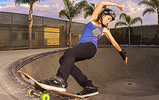 Professional skateboarder and alumna Amelia Brodka produced <em>Underexposed: A Women's Skateboarding Documentary</em> for her capstone project in the narrative studies program at USC Dornsife. Photo by Dan Sparagna.
