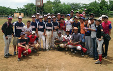 U.S. and Nicaragua teams after a game in the capitol city of Managua in 2013, part of a baseball tour organized by the International Baseball Academy of Central America. Photos courtesy of Bob Oettinger.