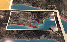 Images presented at a November USC Sea Grant workshop depict areas known to be vulnerable to impacts of rising sea levels in the Los Angeles region. Photos by Holly Rindge.