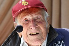 Louis Zamperini was selected in May as grand marshal for the 126th Tournament of Roses. He died July 2 and was honored during the parade. Photo courtesy of Wikimedia.