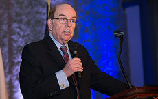 USC Dornsife's Robert Shrum speaking at the 2015 AAPC Pollie Awards and Conference in New Orleans. Photos courtesy of AAPC.