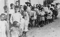 Greek and Armenian refugee children near Athens, Greece, in 1923, following their expulsion from Turkey. Photo courtesy of USC Shoah Foundation.