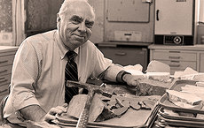 Donn Gorsline, Emeritus Professor of Earth Sciences at USC Dornsife, taught marine geology from 1962-98. Recognized as a major figure in his field, he is pictured here in 1986. Photo courtesy of USC University Archives.