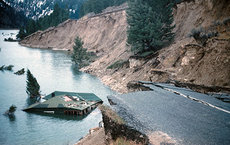 The Hebgen Lake earthquake, magnitude 7.1-7.3, struck southwestern Montana in August 1959, causing significant damage. Photo courtesy of USGS.