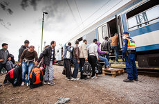 Even once they arrive on European soil, the journey is not over for these exhausted refugees.