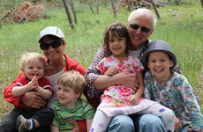 Don Miller, his wife Lorna and their four grandchildren. Photo courtesy of Don Miller.