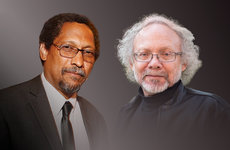 Professors Percival Everett (left) and David St. John have been elected to the American Academy of Arts and Sciences, bringing the number of USC Dornsife's academy fellows to 23.