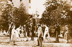Members of the Oneida Community playing croquet on the lawn of their imposing Mansion House in Madison Country, New York. Photo courtesy of Oneida Community.