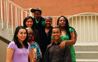 Ford Foundation Diversity Fellows include Genevieve Carpio (left), Terrion L. Williamson, Abigail Rosas, Kiana M. Green, Chrisshonna Grant Nieva, Orlando Serrano and Imani Johnson. Photo credit Taylor Foust.