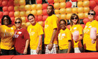Tammara Anderson, executive director of the Joint Educational Project (far left), celebrates during the October Good Neighbors Campaign picnic with (left to right) JEP's Brenda Pesante, Jameson Yu, David Anderson, Stefanie Gopaul, Tina Koneazny, and Jackie Whitley. Photo credit Pamela J. Johnson.