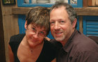 Lisa Bitel and Peter Mancall of USC College's Department of History have been married 24 years. Mancall appeared on <em>The Daily Show with Jon Stewart</em> discussing his new book about Henry Hudson on July 14. Bitel's book, <em>Landscape with Two Saints</em>, was also recently published. Photo credit Andrew Mancall.