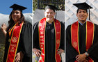 Exceptional USC College graduates Isabel Duenas, Brian Tenenbaum and Evan Marcus. Photos by Pamela J. Johnson.