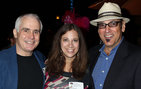 From left, Barr Potter, What's Your Issue Board member and CEO of MediaWide Consultants; Talia Cohen, Associate Director of Public Outreach and Communications for the USC Shoah Foundation Institute; and What's Your Issue founder and president HeathCliff Rothman. Photo credit Russell Einhorn.