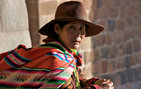 Indigenous woman in Cusco, Peru, who appears in the PBS documentary <em>When Worlds Collide</em>. Photo credit Mitchell Wilson.