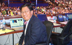 Kam Kuwata '75 at the 2008 Democratic National Convention in Denver, Colo. Photo courtesy of Bill Carrick.