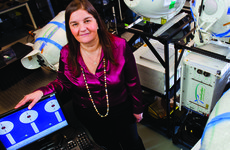 Alisa Rogers (M.S., chemistry, '79) is co-founder of Optical Air Data Systems and Catch the Wind in Manassas, Va. Photo by Jeffrey MacMillan.