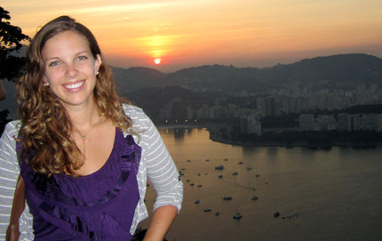 USC Dornsife alumna Dawn Powell spent her Fulbright year investigating Sino-Brazilian economic relations in Brazil. Powell enjoys the sunset on Sugar Loaf mountain after a day of interviews in Rio de Janeiro. Photo courtesy of Dawn Powell.