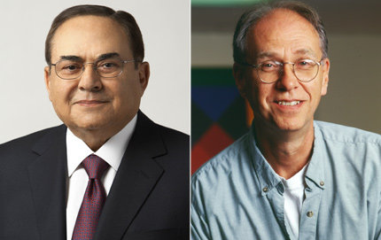Ray R. Irani (left) and Michael Waterman have been elected to the National Academy of Engineering.