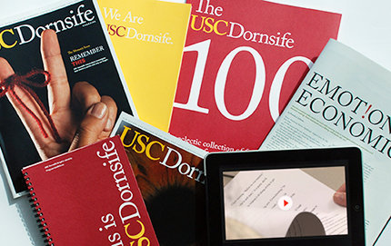 Since 2009, the USC Dornsife Office of Communication has earned a total of 23 CASE Awards of Excellence. Photo by Dan Knapp.