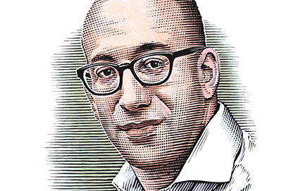 Jacob Soll, professor of history who arrived Summer of 2012, has a joint appointment with the USC Leventhal School of Accounting. A MacArthur fellow in 2011 and Guggenheim fellow from 2009 to 2010, Soll was recruited from Rutgers, the State University of New Jersey. Illustration by Bill Sanderson.