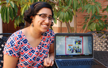 Vellore Adithi won first place in the humanities category at the 2013 Undergraduate Symposium for Scholarly and Creative Work. Adithi's researc
