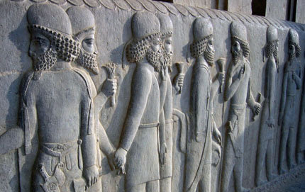 The new minor in Iranian studies in USC Dornsife will teach students about the history of Iran. For example, they will learn about Persepolis, the capital of Archaemenid Empire (ca. 550-330 BC), where the Sehdar Palace is located. Here, Persian noblemen are carved on a palace wall.
