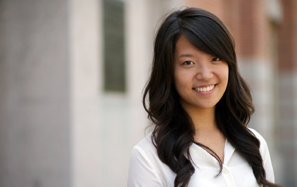 A USC Dornsife junior majoring in neuroscience, the new USC Residential Student Government President Sera Choi is also involved in USC Dornsife's Trojan Health Volunteers program, part of the Joint Educational Project. Photo by Dietmar Quistorf.