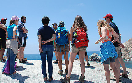 Students in the International Geobiology Course enjoy an afternoon of field study as a break from intense analytical work at the USC Wrigley Marine Science Center on Catalina Island. Photos by Letty Avila.