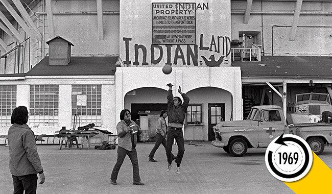 Native Americans Take Over Alcatraz Island In Bid To Raise Land