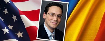 "Although forbidden in his native Romania, Alexandru ""Alex"" Iftimie grew up listening to Radio Free Europe, which influenced him to later study debate. The USC College alumnus is a Soros fellow at Yale Law School. Photo credit Christopher Smith."