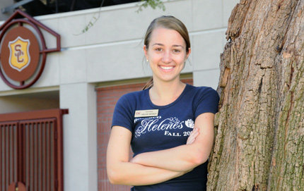 Political Science undergraduate Helen Moser was among 75 chosen of more than 630 nationwide applicants for the Congress-Bundestag Youth Exchange (CBYX) scholarship. Photo credit Pamela J. Johnson.