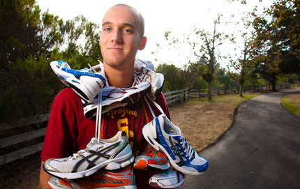 USC College sophomore Greg Woodburn is the founder of the nonprofit organization Give Running, which collects and refurbishes used athletic shoes and distributes them to underprivileged children.