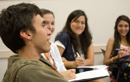 High school students take part in a four-week creative writing workshop offered by Summer@USC. Photo courtesy of USC Summer Programs.