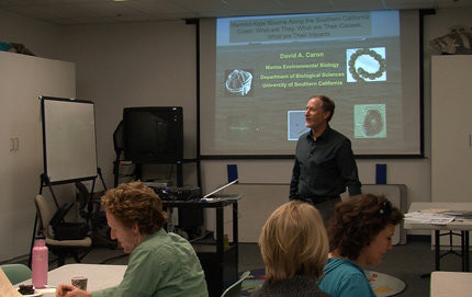 USC College marine biologist David Caron attends a COSEE-West workshop in January. Photo by Peter Tuddenham.