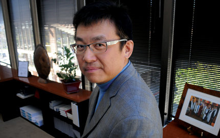 Wayne Wu (M.S., mathematics, '92) is president and CEO of Pacific Health Investment, Inc. in Orange County, Calif. Photo by Carlos Puma.