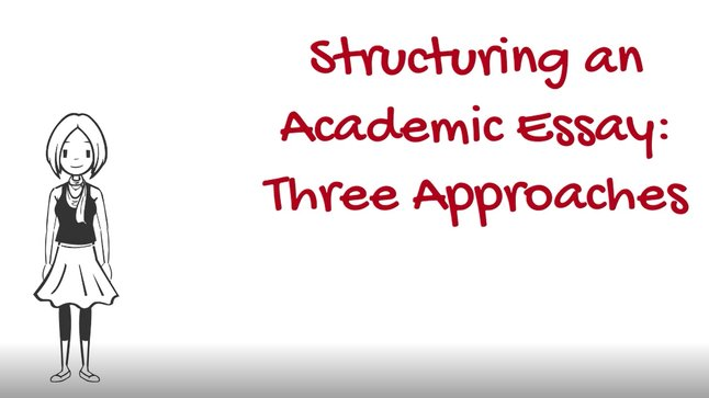 Proposal Example Essay Structuring An Academic Essay Thesis Examples For Essays also Business Law Essay Questions Three Approaches To Structuring An Academic Essay  The Writing  Essay Writing Business