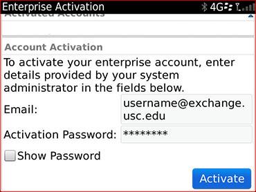enterprise activation password